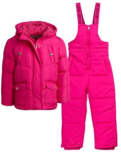 Steve Madden Baby Girls' 2-Piece Snowsuit Set - Puffer Jacket