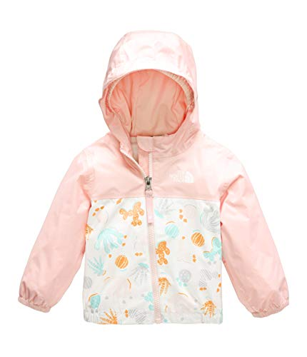 The North Face Infant Zipline Rain Jacket, TNF White Cactus Lino Print