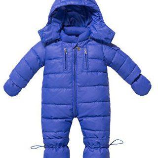 ZOEREA Infant Newborn Baby Hoodie Down Jacket Jumpsuit