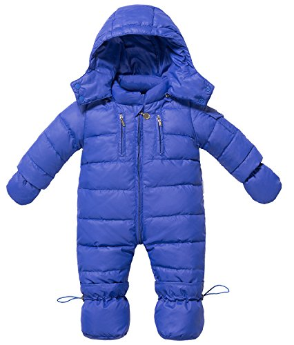 ZOEREA Infant Newborn Baby Hoodie Down Jacket Jumpsuit