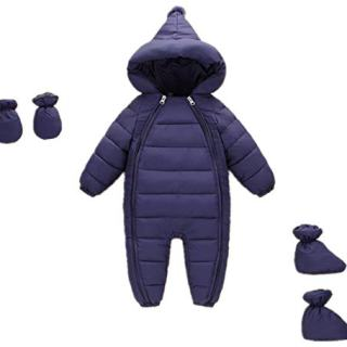Unisex Baby Down Cotton Romper 3 Pcs Thick Boys Girls Winter Coat