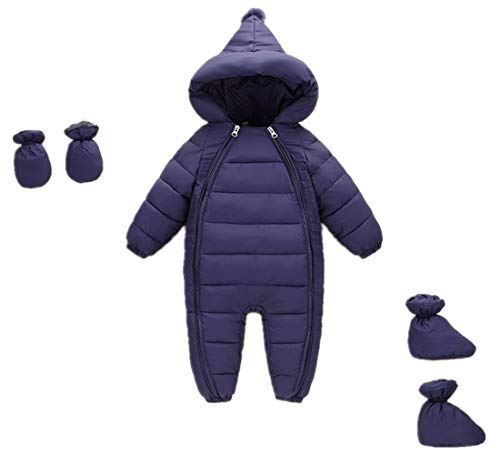 Unisex Baby Down Cotton Romper 3 Pcs Thick Boys Girls Winter Coat
