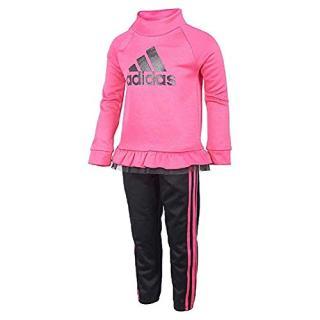 adidas Girls Tricot Jacket and Pant Set