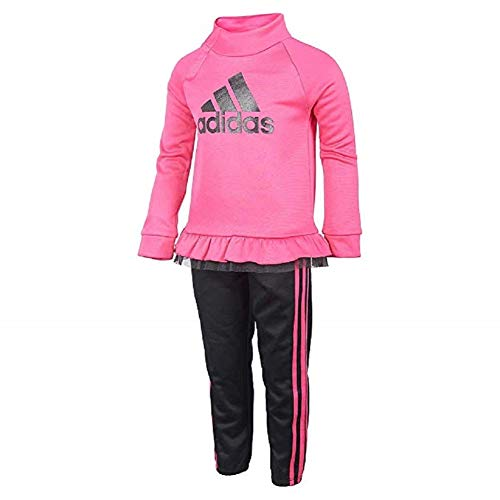 adidas Girls Tricot Jacket and Pant Set