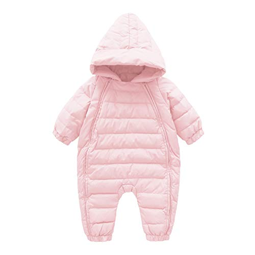 Cnajii Infant Boy Girl Winter Romper Outwear Warm Hood Snowsuit