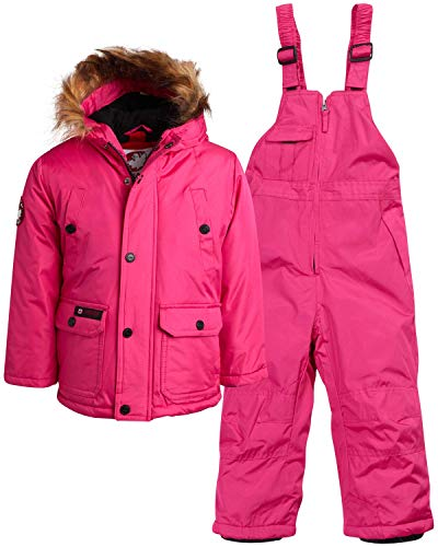 CANADA WEATHER GEAR Girls 2-Piece Snowsuit Set with Warm Puffer Jacket