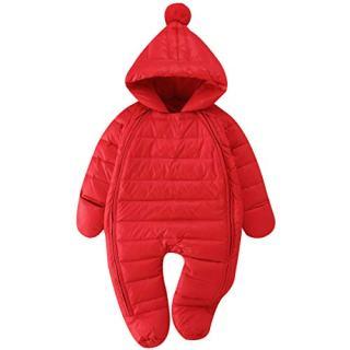 Bebone Newborn Baby Hooded Winter Puffer Snowsuit