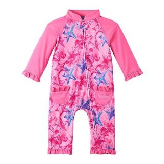 UV SKINZ UPF50+ Baby Girl Sun & Swim Suit-Bubblegum Starfish