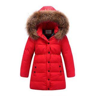 LJYH Big Girls' Winter Down Hooded Coats Kids Parka Thick Winter Jacket