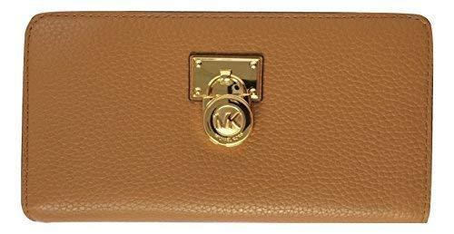 Michael Kors Hamilton Traveler Large Zip Around Leather Wallet (Acorn)