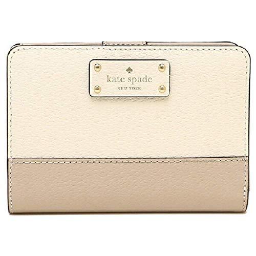 Kate Spade New York Grove Street Tellie Bifold Wallet, Warm Beige/Cement