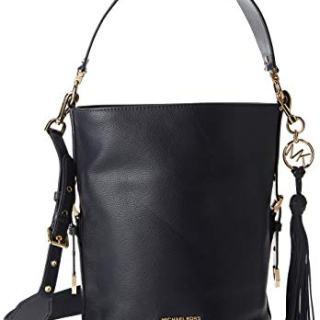 MICHAEL Michael Kors Brooke Medium Bucket Messenger Black One Size
