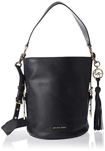 MICHAEL Michael Kors Brooke Medium Bucket Messenger Black One Size