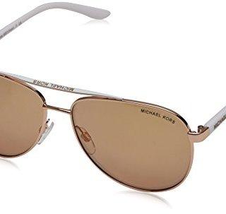 Michael Kors Rose Gold Hvar Pilot Sunglasses Lens Category 2 Lens