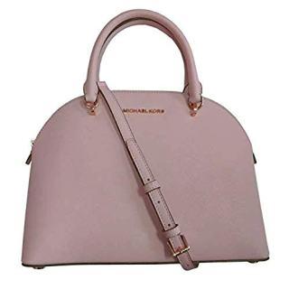 Michael Kors Emmy (Blossom) Dome Satchel Saffiano Leather Shoulder Bag