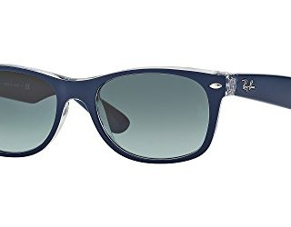 Ray Ban NEW WAYFARER 52M Matte Blue On Transparent/Grey Gradient Sunglasses