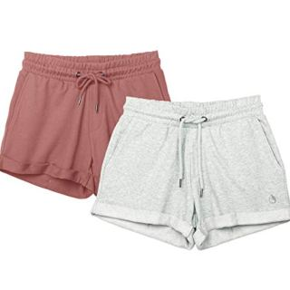 icyzone Workout Lounge Shorts for Women - Athletic Running Jogging Cotton