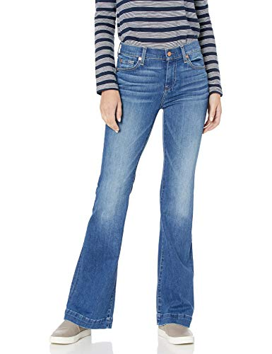 7 For All Mankind Women's Flare Wide Leg Jean, Santiago Canyon Bella Heritage