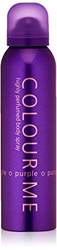 Colour Me | Purple | Body Spray Mist | Womens Fragrance | Chypre Fruity Scent