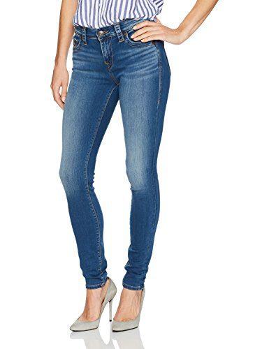 True Religion Women's Jennie Mid Rise Curvy Fit Skinny Leg Jean