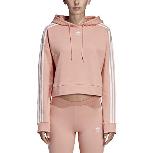 adidas Originals Women's Cropped Hoodie, dust pink, Small