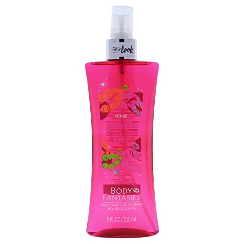 Body Fantasies Signature Fragrance Body Spray, Pink Vanilla Kiss Fantasy