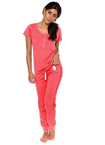 U.S. Polo Assn. Womens Short Sleeve Shirt and Long Pajama Pants Sleepwear Set