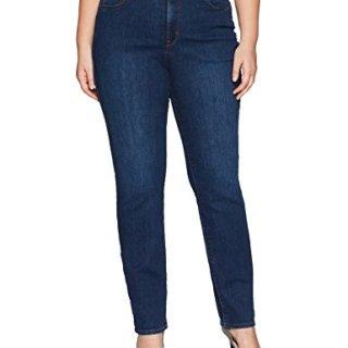 NYDJ Women's Plus Size Marilyn Straight Leg Jeans, cooper