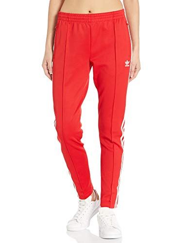 adidas Originals Women's Superstar Track Pant, Scarlet