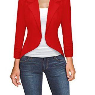 Womens Casual Work High Low Blazer Jacket