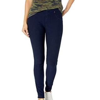 HUE Women's Ultra Soft Fleece Lined Denim Leggings, Ink Wash