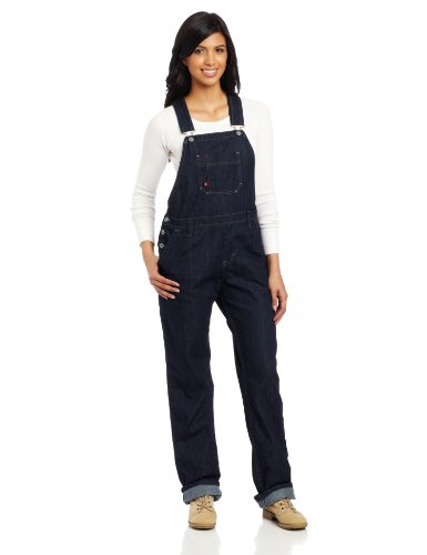 Dickies Women's Denim Bib Overall, Blue Denim