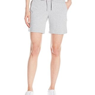 Hanes Women's Jersey Short, Light Steel, X-Large