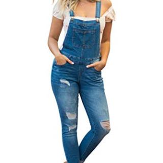 NioBe Clothing Women's Juniors Rolled Cuffs Ankle Length Distressed Denim