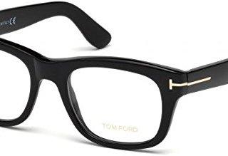 Tom Ford Rectangular Eyeglasses Shiny Black 51mm