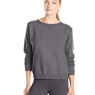 Hanes Women's V-Notch Pullover Fleece Sweatshirt, Slate Heather