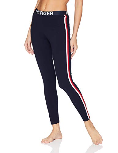 Tommy Hilfiger Women's Retro Style Hilfiger Logo Graphic Leggings Pant Lounge Pj