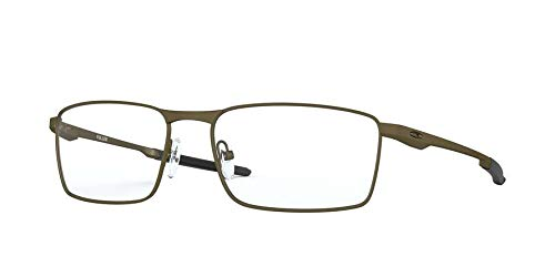 Oakley Men's Fuller Rectangular Metal Eyeglass Frames Non Polarized Prescription