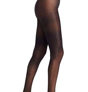 Donna Karan Women's Semi-Sheer Jersey Tight, Black, Small