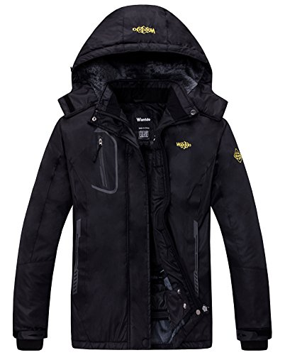 Wantdo Women's Waterproof Mountain Jacket Fleece Windproof Ski Jacket
