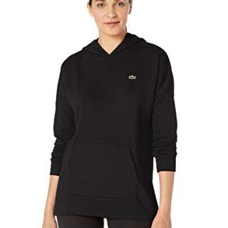 Lacoste Womens Sport Long Sleeve Oversized Hooded Fleece Sweatshirt Sweatshirt