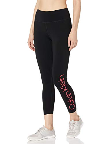 Calvin Klein Women's High Waist Solid Logo Legging, Energy Combo