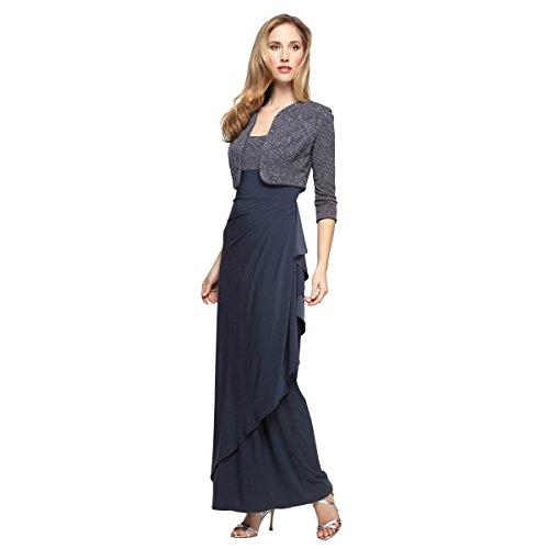 Alex Evenings Women's Empire Waist Bolero Jacket Dress