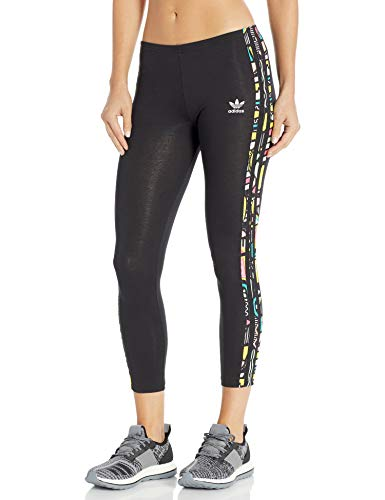 adidas Originals Women's Juniors Solid Tight, Black/Multi