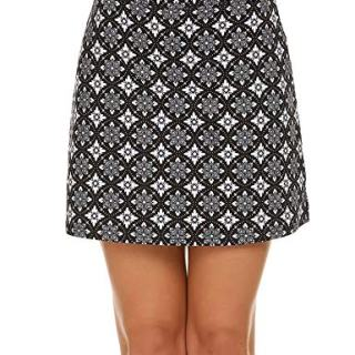 Ekouaer Women Double Layer Skorts with Underneath Short Running Golf Tennis
