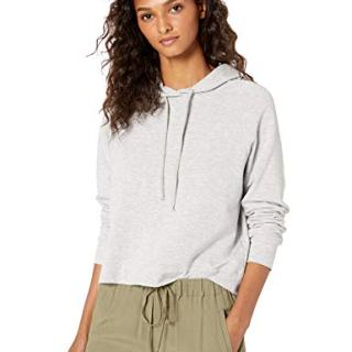 Majestic Filatures Women's French Terry Hoodie, Brume Chine