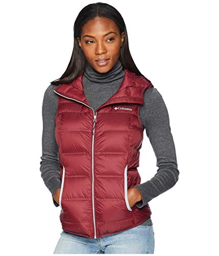 Columbia Explorer Falls Hooded Vest Rich Wine/Astral SM