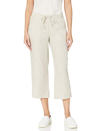 Amazon Essentials Women's Solid Drawstring Linen Crop Pant