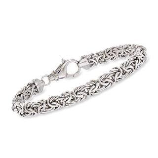 Ross-Simons Sterling Silver Handmade Byzantine Bracelet