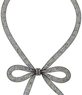 "Betsey Johnson ""Memoirs of Betsey"" Mesh Bow Necklace"
